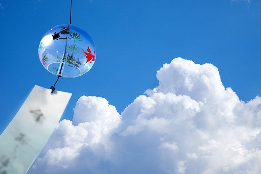 入道雲と風鈴