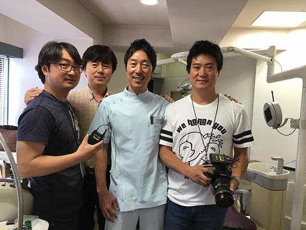 韓国SBCテレビの取材スタッフ
