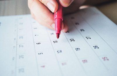 カレンダーにマーク